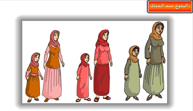 تحضير درس البلوغ عند الإناث تربية اسرية سادس ابتدائي الفصل الأول