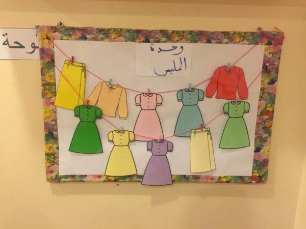 تحضير وحدة الملبس رياض اطفال