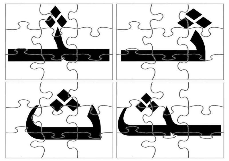 بازل حرف الثاء حروف و مواقعها و صور للصفوف الاولية