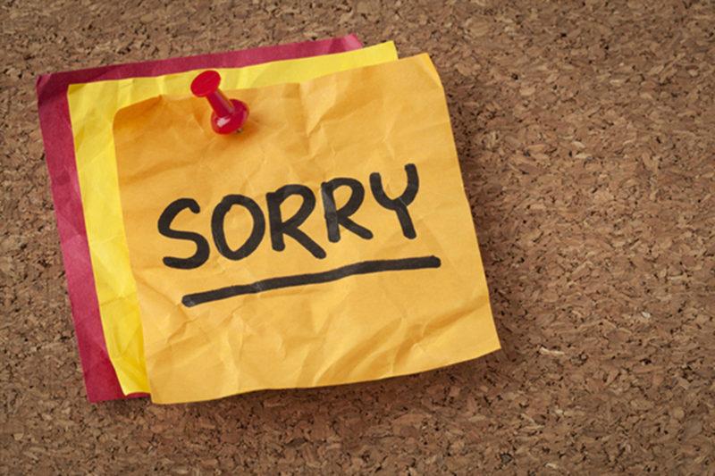 اذاعة مدرسية عن الاعتذار