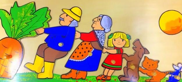 عرض بوربوينت قصة الجزرة الكبيرة رياض الاطفال