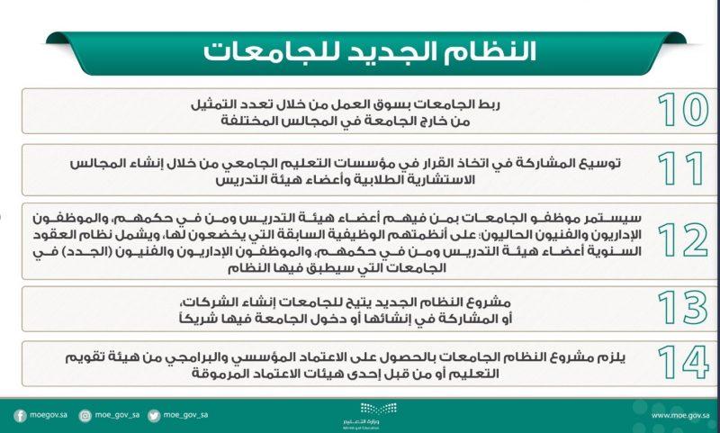 أبرز ملامح النظام الجديد للجامعات في المملكة العربية السعودية 3