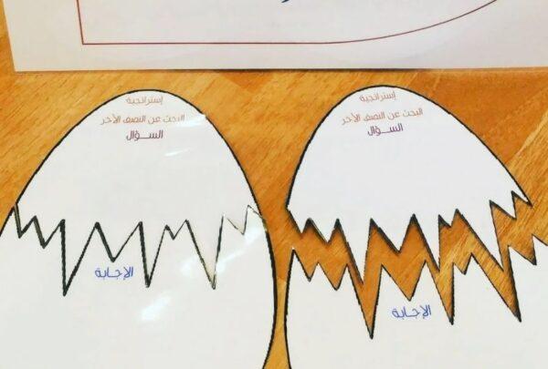 استراتجية النصف والنصف الاخر للحروف والالوان والارقام الانجليزية