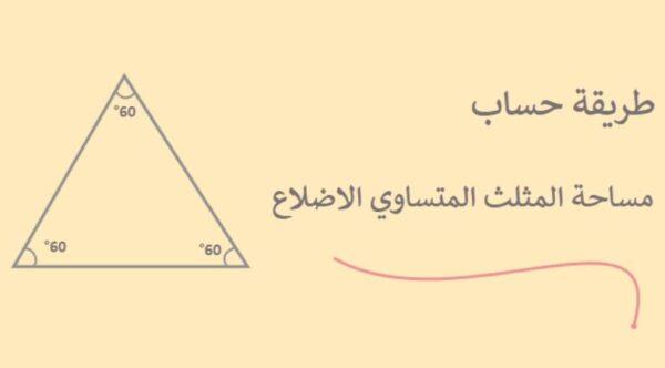 تدريبات وشرح درس مساحة المثلث الصف السادس الابتدائي